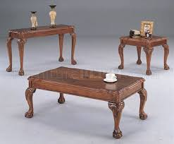 Traditional Coffee Table Deep Brown Traditional Coffee Table With Shell Design Inlays