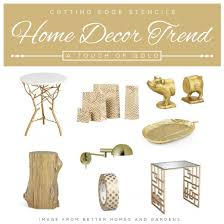 Home Decor Trend Home Decor Trend A Touch Of Gorgeous Gold Stencil Stories