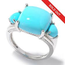 gem silver rings images Gem insider sterling silver sleeping beauty turquoise three stone