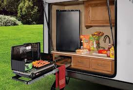 Coleman Camp Kitchen With Sink by 10 Rvs With Amazing Outdoor Entertaining U0026 Kitchens U2013 Welcome To