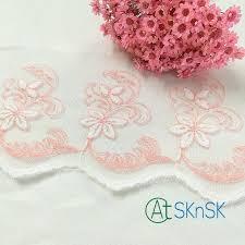 wholesale lace ribbon 500 yards lot cheap wholesale lace 10cm width pink flower mesh