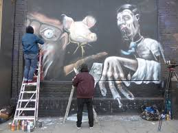 Curtain Street Shoreditch Week 4 Of The U0027behind The Curtain U0027 Street Art Competition On The