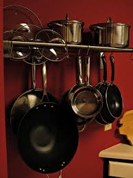pot and pan wall rack with nice stainless pot and pan drying rack