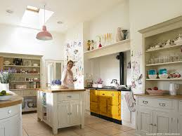brid ni fhlathuin in the kitchen of her modernised irish cottage