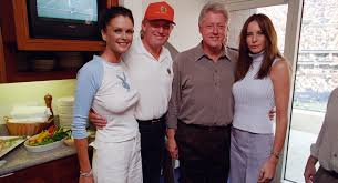 where does trump live new photos show bill clinton yukking it up with trump melania