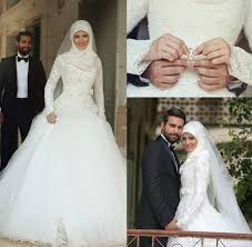 abaya wedding dress 2015 islamic muslim a line wedding dresses said mhamad lace