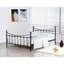 high quality cream metal bed frame 1 sprung slats base 2
