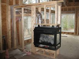 modern 3 sided fireplace google search fireplace design