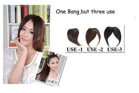hair extensions for thinning bangs 3 usage 1b 2 4 100 real hair hair clip in on fringe bangs