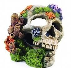 classic aquarium fish tank ornaments polyresin skull 20cm ebay