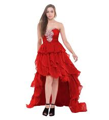 unique ruffle cheap high low prom dresses 2017 high low formal gown