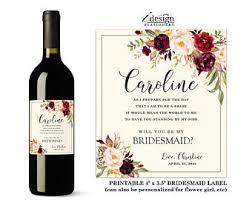 wine bottle labels etsy