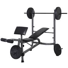 Weight Bench With Bar - amazon com goplus standard weight lifting bench set incline flat