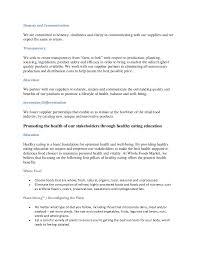 Sample Skills Resume by Wegman And Whole Food Strategic Business Plan