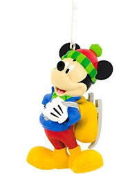 big deal on hallmark disney mickey mouse skating ornament