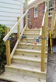 How To Make Handrails For Decks Living Room Stylish How To Build A Deck Its Done Young House Love