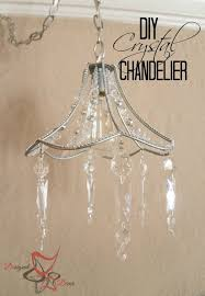 Chandelier Lamp Shades With Crystals Diy Crystal Chandelier Designed Decor
