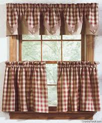 Blue And White Gingham Curtains Country Kitchen Curtains Thearmchairs Com Curtains U0026 Drapes