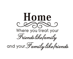 home decor drop shipping dropshipping black wall quotes sayinghome family like friends wall