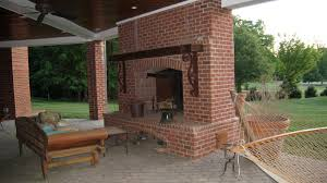 outdoor brick kitchen interiors design