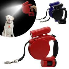 Hateli 3 in 1 Multifunction 4 5M Retractable Dog Leash with LED
