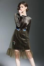 velvet dress set female early spring 2017 end long sleeve mini