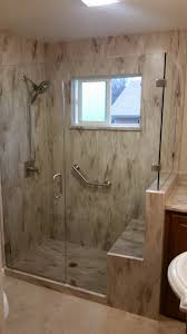 Glass Shower Cabin Partition Walls With Black Handle White Wall Custom Frameless Shower Enclosures And Shower Doors