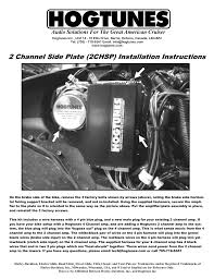 hogtunes 2 chsp mounting plate user manual 1 page