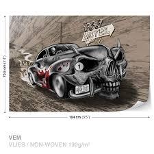 wall mural photo wallpaper xxl alchemy death hot rod car skull wall mural photo wallpaper xxl alchemy death hot