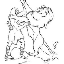 samson legendary fight samson lion coloring