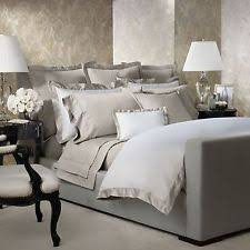 ralph lauren langdon vintage silver full queen duvet cover u0026 shams