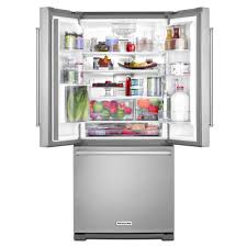 French Door Refrigerator Without Water Dispenser - krff300ebl kitchenaid 30