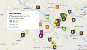 Beer Map The Swpa U0026 Pittsburgh Craft Beer Directory