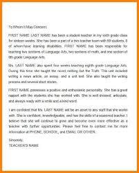 9 teacher recommendation letter for student farmer resume
