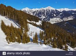 Bad Gastein Skigebiet Berge Skigebiet Bad Gastein österreich Stockfoto Bild 57093051