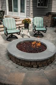 highland stone firepit kit color jefferson freestanding wall