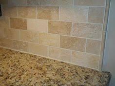Travertine Tile Backsplash Noche Blend Tumbled Travertine With - Travertine tile backsplash