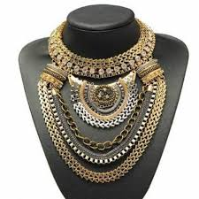 big statement gold necklace images Jewels dress up pretty gold necklace statement necklace long jpg