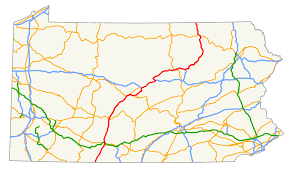Pennsylvania Map With Cities And Towns by U S Route 220 In Pennsylvania Wikipedia