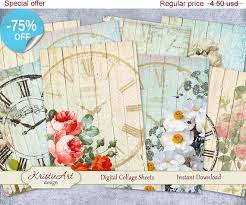aceo cards for sale 75 sale aceo cards flower clock faces by kristieartdesign