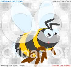 cartoon of a cute bumble bee royalty free vector clipart by alex