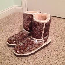 s gissella ugg boots 69 ugg boots ugg boots brown gold silver sparkles from