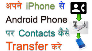 how to transfer contacts from iphone to android hindi tips