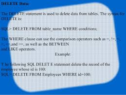 Delete Data From Table Java Jdbc