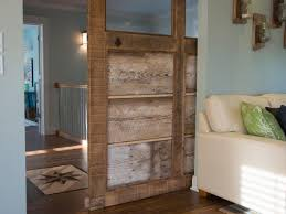 How To Decorate Tall Walls by How To Build A Reclaimed Wood Sliding Door How Tos Diy
