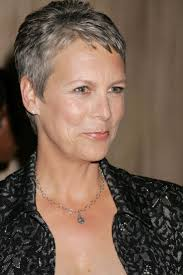 how to get the jamie lee curtis haircut sporty pixie with silver highlights for women over 50 jamie lee