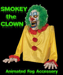 Halloween Clowns Props Halloween Prop Animated Zombie Demon Clown Fog Machine Accessory