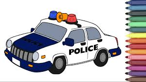 police car coloring page for kids youtube