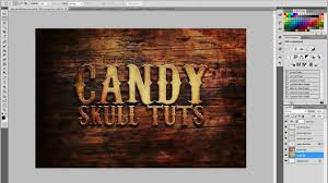 western style text effect in photoshop youtube