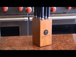 ginsu chikara series 9 piece forged steak knife set youtube